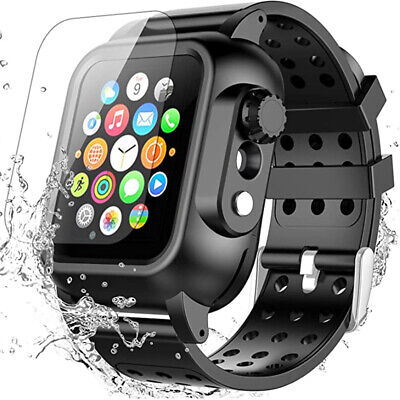 AU24.99 • Buy Shockproof Waterproof Case Cover Watch Band Strap For Apple Watch 6 5 4 3 SE