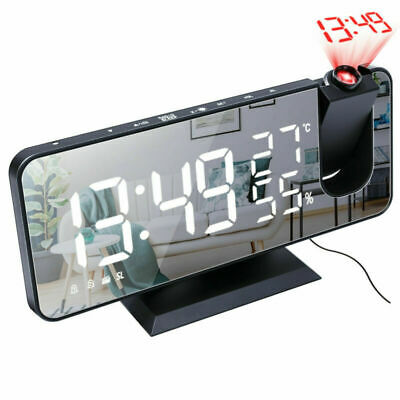 AU33.69 • Buy Smart Digital LED Projection Alarm Clock Time Temperature Projector LCD Display