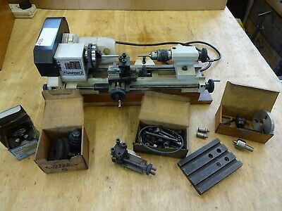 £1320 • Buy Emco Unimat 3 Centre Lathe  + 3 & 4 Jaw, Drill Chuck, Boring Table + Power Feed