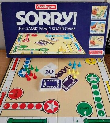 £16.99 • Buy Waddingtons Sorry! Vintage Board Game - Rare Collectable 1988 Edition - Complete
