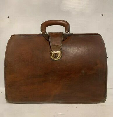 £27.54 • Buy CHENEY BRAND Vintage Brown Leather Doctor Bag