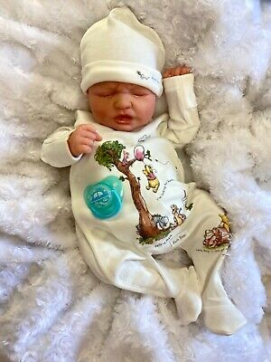 £135 • Buy Reborn Doll Baby Newborn Size Ruby Realborn Painted Hair Just Born Baby Crier