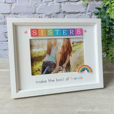 £9.99 • Buy Sisters Make The Best Friends Rainbow Scrabble Photo Frame