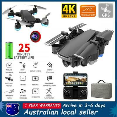 AU66.99 • Buy With 5G GPS Drone Wifi FPV 4K HD Camera RC Optical Quadcopter Brushless Dron Au