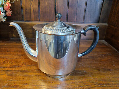 £22.50 • Buy Vintage Good Sized 2 Pint Capacity EPNS Viners Of Sheffield Alpha Plate Teapot