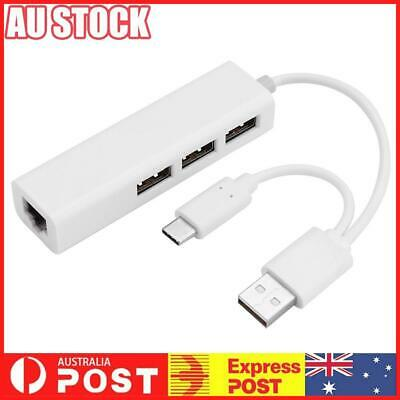 AU15.89 • Buy USB 3.1 Type C To Gigabit Ethernet Network With USB 2.0 Hub Adapter Cable
