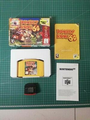 AU349.99 • Buy Donkey Kong 64 Nintendo 64 Boxed N64 WITH EXPANSION PACK