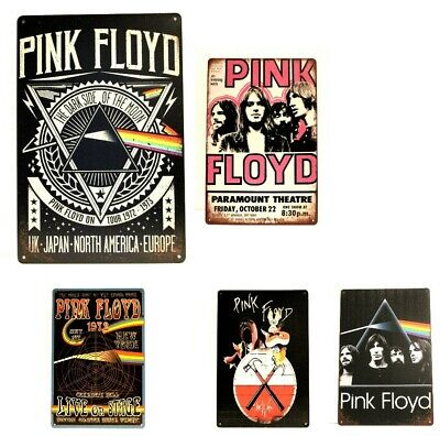 $8.95 • Buy Pink Floyd Live In Concert Tin Metal Sign Man Cave Tour Vintage Ad Poster New