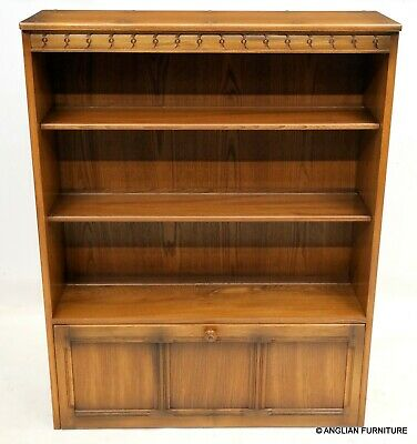 £167 • Buy Ercol Mural Drinks Cabinet With Shelving Top Section Golden Dawn FREE Delivery*