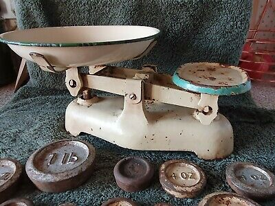 £55 • Buy Vintage Cast Iron Weight Scales With Weights
