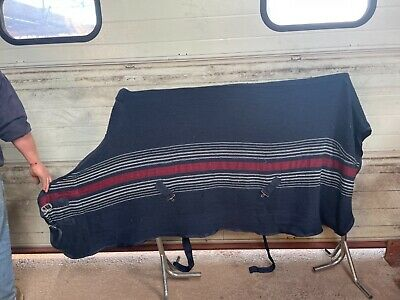 £15 • Buy WAREHOUSE CLEARANCE 5'0 Striped WAFFLE COOLER  Horse Rug Reduced-dirty