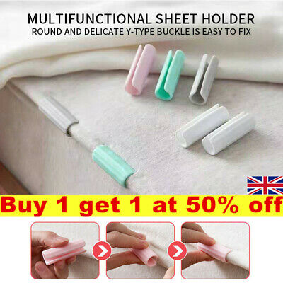 £3.75 • Buy 12pcs Fitted Bed Sheet Holder Sheet Grip Mattress Cover Gripper Clip Fasteners