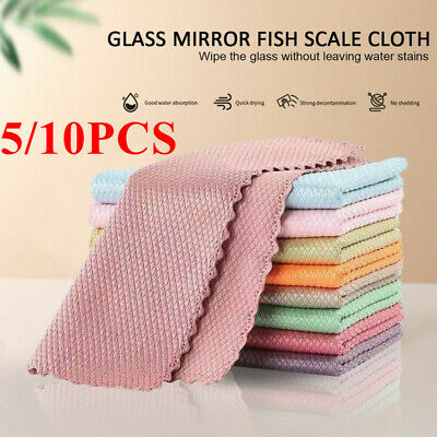 £4.83 • Buy 5/10X Nano Scale Streak-Free Miracle Cleaning Cloths Reusable Kitchen Cloths