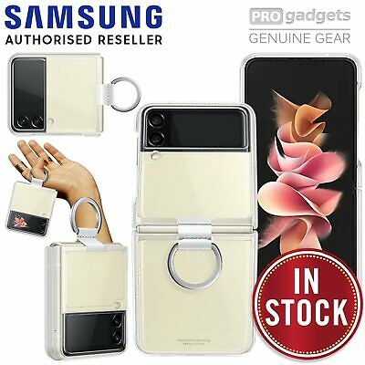 AU46.50 • Buy For Galaxy Z Flip 3/ 5G Case Samsung Original Protective Clear Cover With Ring