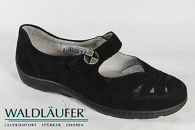 £85.19 • Buy Waldläufer Ladies Slippers Ballerina Black Leather Removable Footbed New