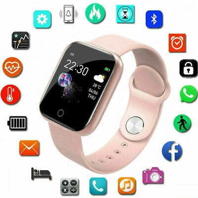 AU19.59 • Buy Smart Watch Android Blood Pressure Heart Rate Monitor Fitness Tracker Waterproof