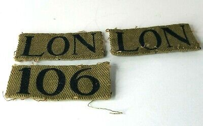 £75 • Buy WW2 County Of London Home Guard 106 Anti Aircraft Battery Cloth Formation Badges