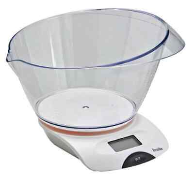 £12 • Buy 5KG Terraillon Electronic Kitchen Scales With Transparent Bowl LCD Display White