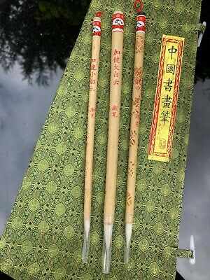 £6.99 • Buy Set Of 3 Traditional Chinese Brushes Painting Calligraphy