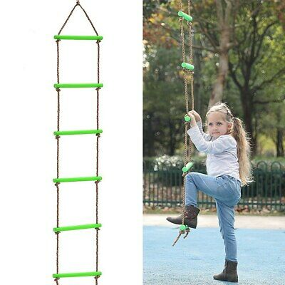 £24.37 • Buy Indoor Outdoor Rope Climbing Ladder For Kid Background Playground