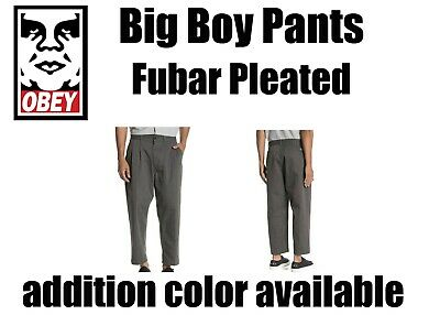 £32.54 • Buy OBEY Big Boy Fubar Pleated Cropped Chino Pants- (Choose Color & SZ) NWT!MSRP$79