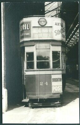 £1.60 • Buy Photo  BRIGHTON   TRAM IN DEPOT   FROM COLLECTION    Ref  669
