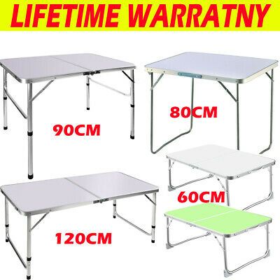£36.40 • Buy Folding Camping Table Aluminium Picnic Portable Adjustable Party Bbq Outdoor