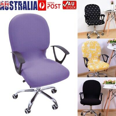AU11.79 • Buy Swivel Chair Cover Stretch Removable Office Seat Slipcover Protector Washable AU
