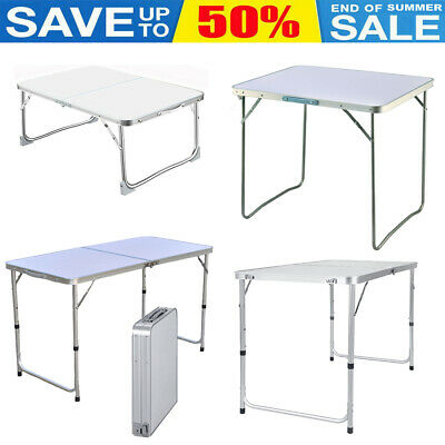 £29.60 • Buy Heavy Duty Folding Table Portable Adjustable Camping Picnic Party BBQ 4ft 3ft 2f
