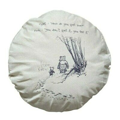 £9.99 • Buy Love - Large Round *COMPLETE CUSHION* Winnie The Pooh/nursery Baby Gift
