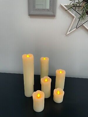 £9 • Buy Battery Operated LED Wax Candles - Pack Of 6 - Excellent Condition