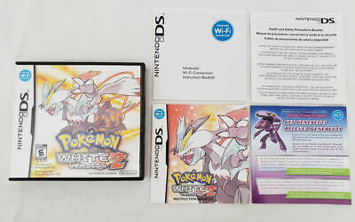 $59.99 • Buy To Complete Pokemon White 2 DS AUTHENTIC Case Manual Inserts Nintendo Genuine