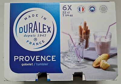 £8.40 • Buy Duralex Provence Water Glass 220ml, 22cl, New Boxed X 6 Glasses
