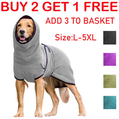 £11.98 • Buy Pet Clothes Dog Towelling Drying Robe Soft Polyester Sleepwear Coat Warm Apparel