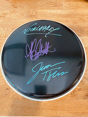 £50 • Buy Alanis Morissette Signed Drum Skin Drumhead With Jesse Tobias And Nick Lashley