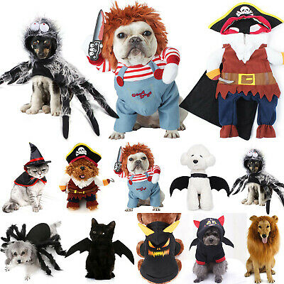 £7.09 • Buy Halloween Bat Lion Costumes For Pet Dog Cat Dress Up Funny Cosplay PartyClothes