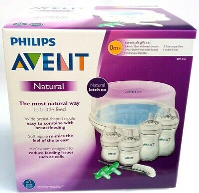 AU45.37 • Buy Philips Avent Natural Baby Bottle Essentials Gift Set, Clear SCD20801- NEW