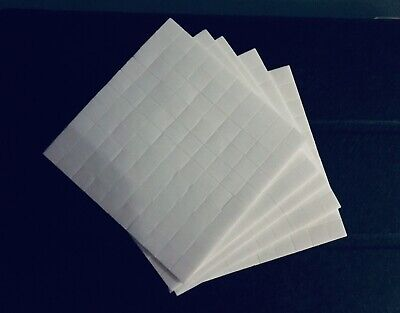 £2.50 • Buy White Sticky Adhesive Double Sided Pads Pre Cut Foam 12mm X 19mm.  Art Craft DIY