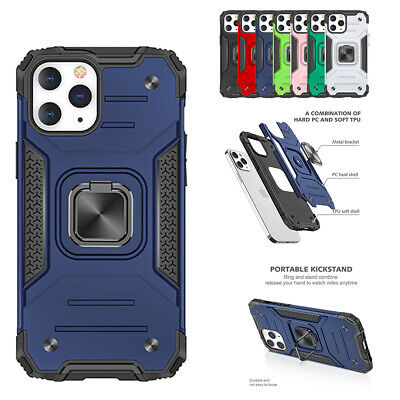 AU7.78 • Buy For IPhone 12 11 Pro Max XS XR 8 7 Plus Hybrid Phone Case With Ring Holder Stand