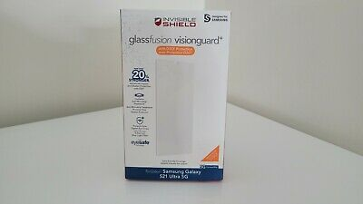 AU57.54 • Buy ZAGG InvisibleShield GlassFusion VisionGuard+ D3O FOR Galaxy S21+ Ultra 5G