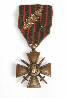 £69.99 • Buy Genuine WW1 The War Cross Croix De Guerre 1914-1917 Star Palm French Medal