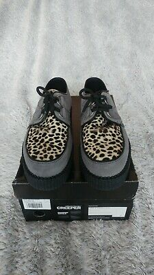 £70 • Buy Underground Low Sole Wulfrun Brothel Creepers Grey Suede And Leopard Print UK 7