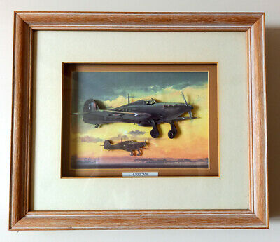 £22.99 • Buy Hawker Hurricane 3D Decoupage Picture In A Wooden Frame 33cm X 28cm X 4cm