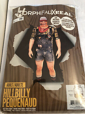 £14.52 • Buy Hillybilly MorphFauxReal Halloweeen Costume SkinSuit With Cap Adult Medium- NEW!