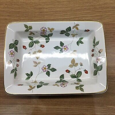 £19.50 • Buy RARE PIECE Wedgwood Wild Strawberry Small Rectangular Serving / Butter Dish