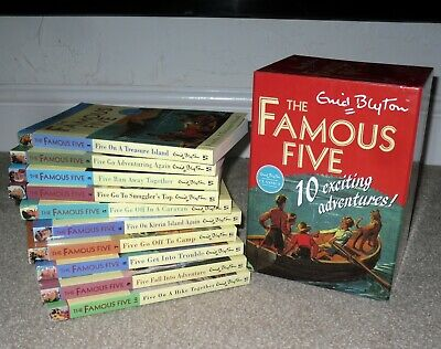 £18.99 • Buy The Famous Five 10 Exciting Adventures By Enid Blyton Paperback Books Boxed Set