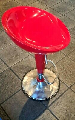 AU179.28 • Buy Adjustable Bright Red  Tractor Seat Bar Stool Gas Adjustable Chair UK