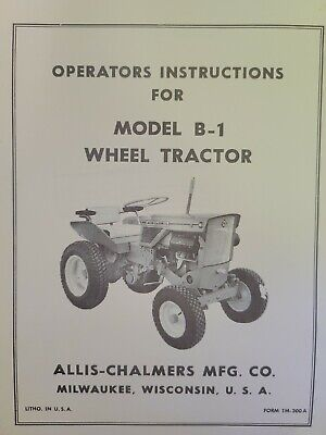 AU190.93 • Buy Allis Chalmers B-1 Garden Tractor & Implements Owner & Parts (6 Manuals)