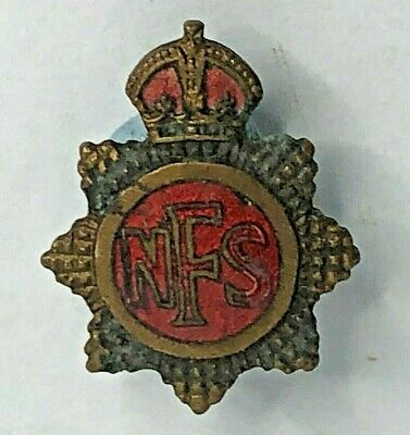 £12 • Buy WW2 Home Front NFS National Fire Service Lapel Pin Badge Obsolete WW2 Issue
