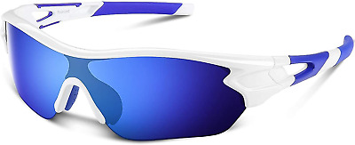 £26.09 • Buy Mens Sunglasses Polarized Sports Sunglasses For Men Women Youth Cycling Running